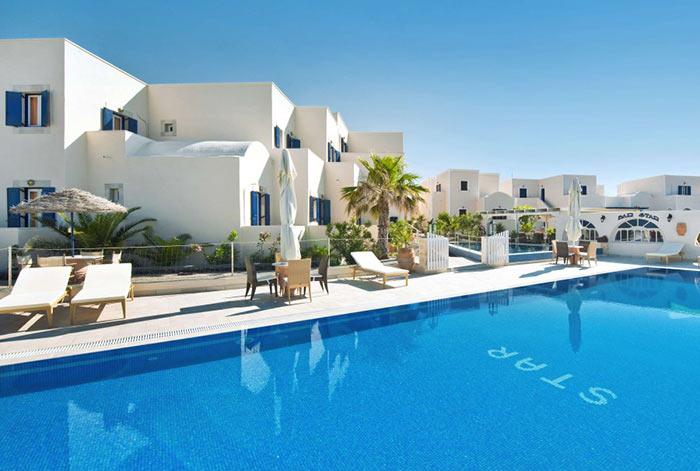 hotel star santorini pool